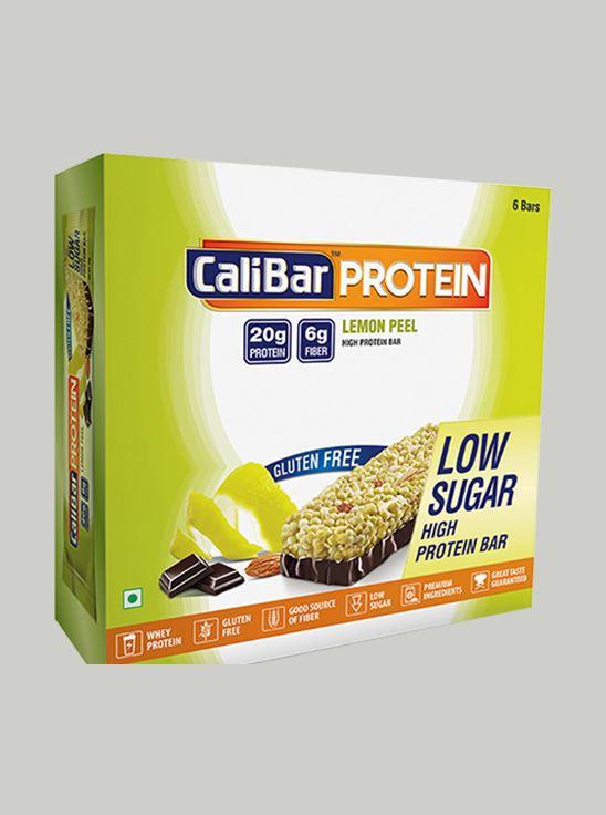 Picture of CaliBar Protein Bar Lemon Peel Low Sugar Pack of 6