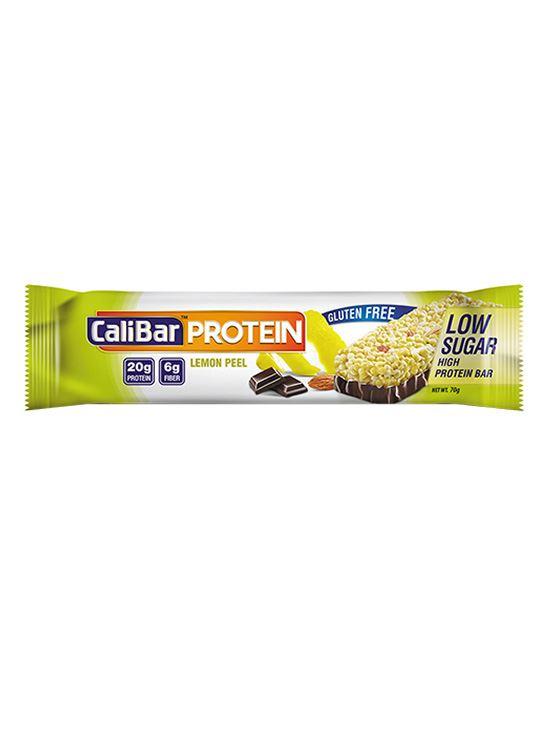 Picture of CaliBar Protein Bar Lemon Peel Low Sugar Pack of 12