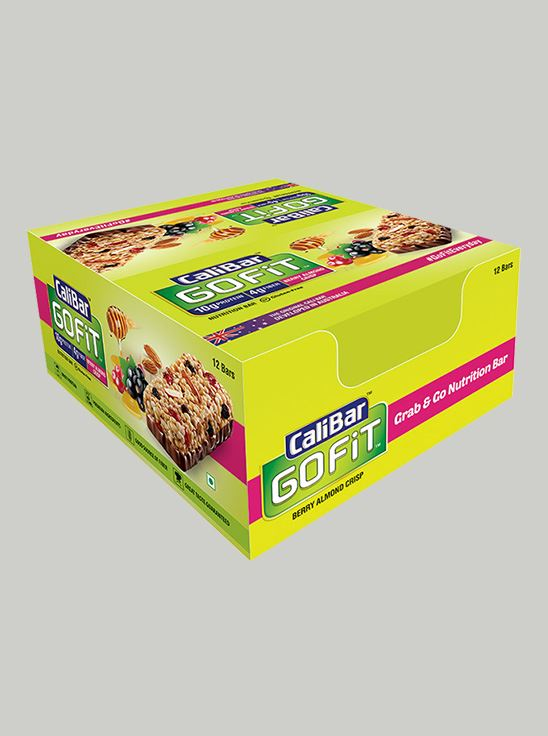 Picture of CaliBar GoFit Protein Bar Berry Almond Crisp Pack of 12