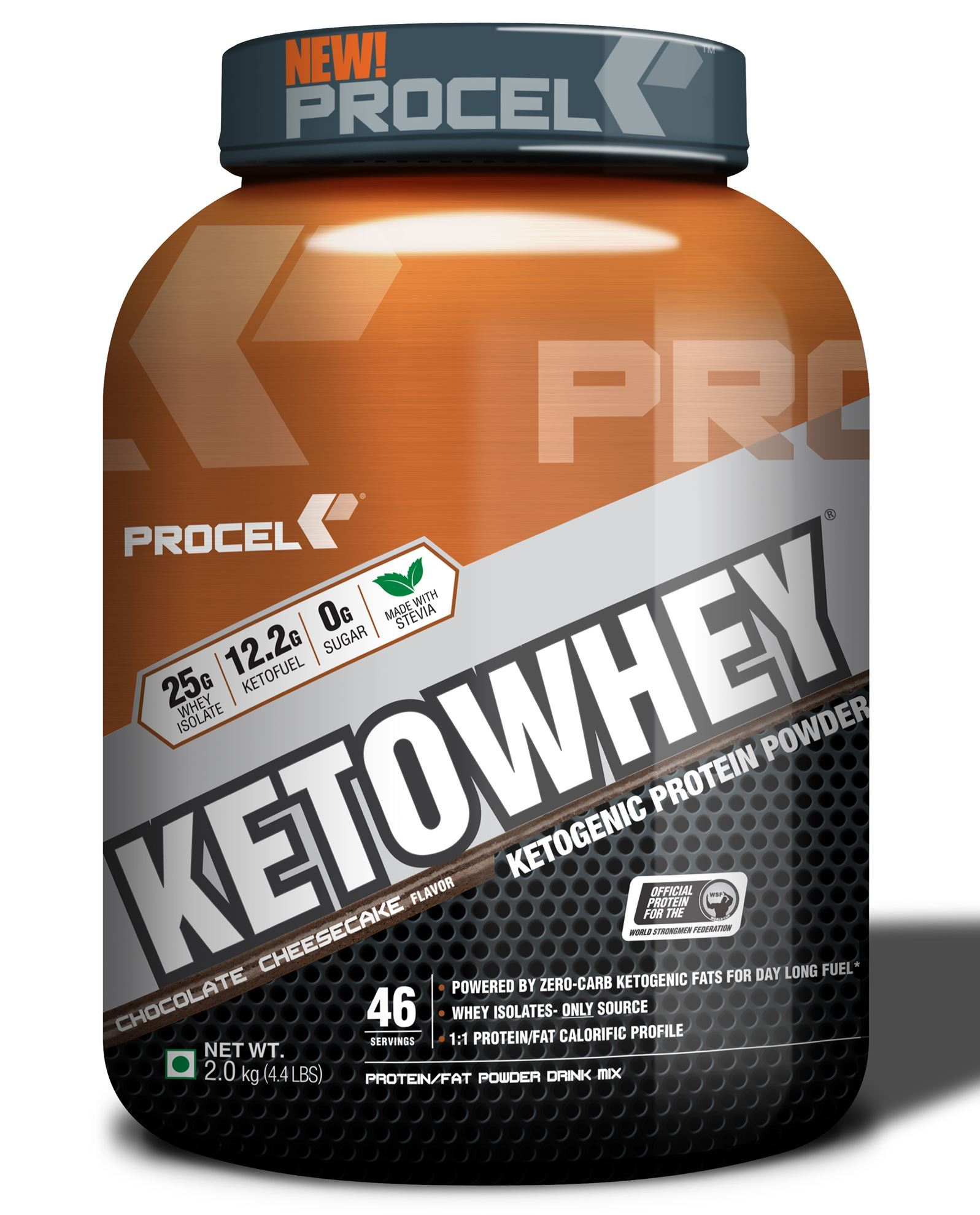 Picture of PROCEL KETOWHEY® Ketogenic Protein Powder with Ketofuel® 2kg Chocolate Cheesecake - Buy one Get One Free
