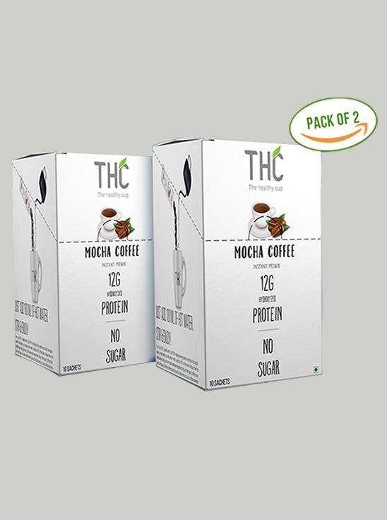 Picture of The Healthy Cup - Mocha Coffee | Pack of 2 -10 Sachet each box (400g)