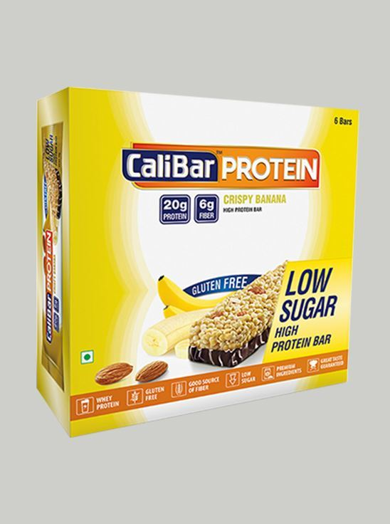 Picture of Copy of CaliBar Protein Bar Crsipy Banana Low Sugar Pack of 6