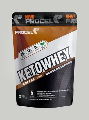 Picture of PROCEL KETOWHEY® Ketogenic Protein Powder with Ketofuel 200g Trial Pack (Coffee)