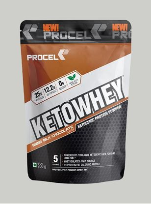 Picture of PROCEL KETOWHEY® Ketogenic Protein Powder with Ketofuel® 200g Trial Pack (Swiss Milk Chocolate)