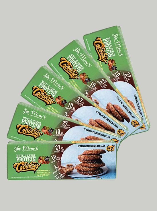 Picture of Jia Mom's Nuts and Seeds Protein Cookies 98g (Pack of 5)