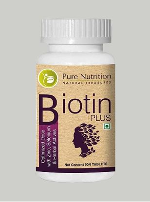 Picture of Pure Nutrition Biotin plus 10000 mcg Optimized dose 60 Caps