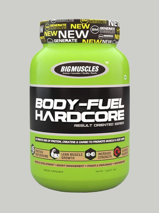 Picture of Bigmuscles Nutrition Bodyfuel Hardcore Cookie & Cream 2.2 lbs