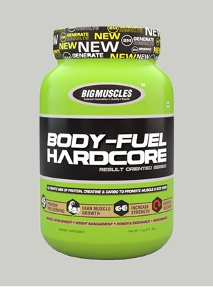 Picture of Bigmuscles Nutrition Body Fuel Hard Core Strawberry 2.2 lbs