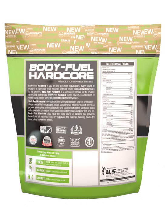 Picture of Bigmuscles Nutrition Bodyfuel Hardcore Strawberry 11 lbs