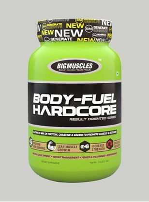Picture of Bigmuscles Nutrition Body Fuel Hardcore Malt Chocolate 2.2 lbs