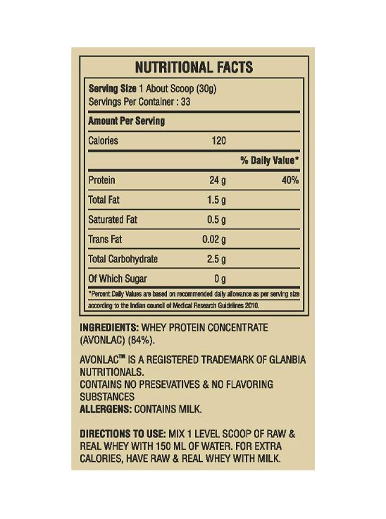 Picture of Bigmuscles Nutrition Raw & Real Whey Protein Unflavoured 4.4 lbs