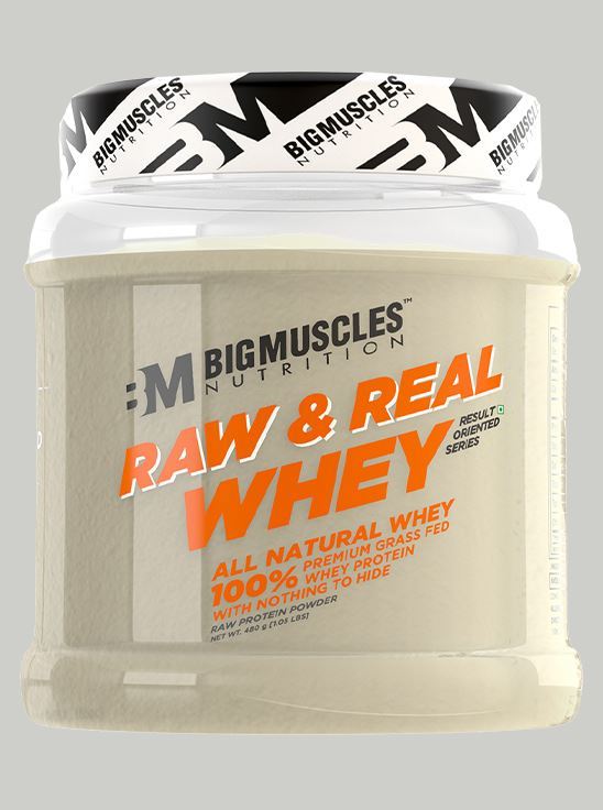 Picture of Bigmuscles Nutrition Raw & Real Whey Protein Unflavoured 480 gm