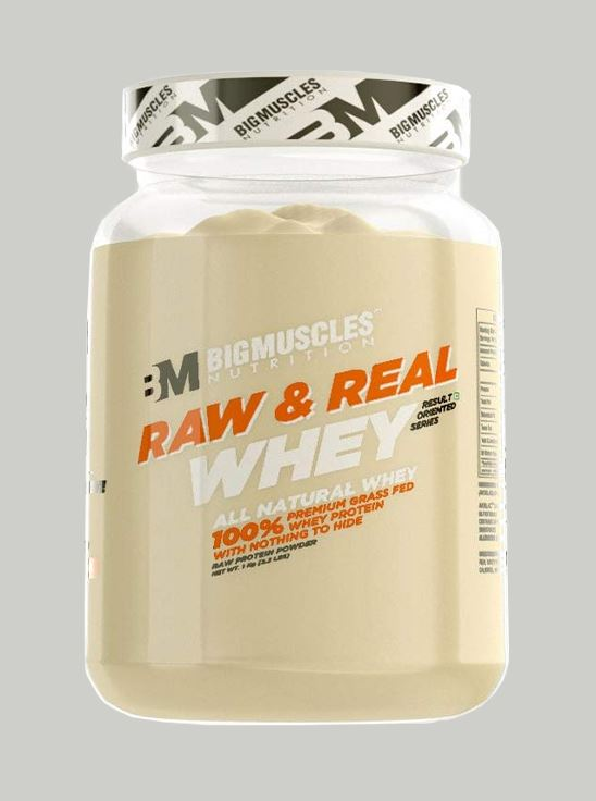 Picture of Bigmuscles Nutrition Raw & Real Whey Protein Unflavoured 2.2 lbs