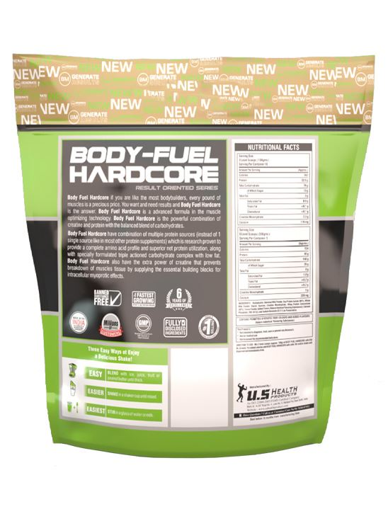 Picture of Bigmuscles Nutrition Body Fuel Hardcore Malt Chocolate 11 lbs