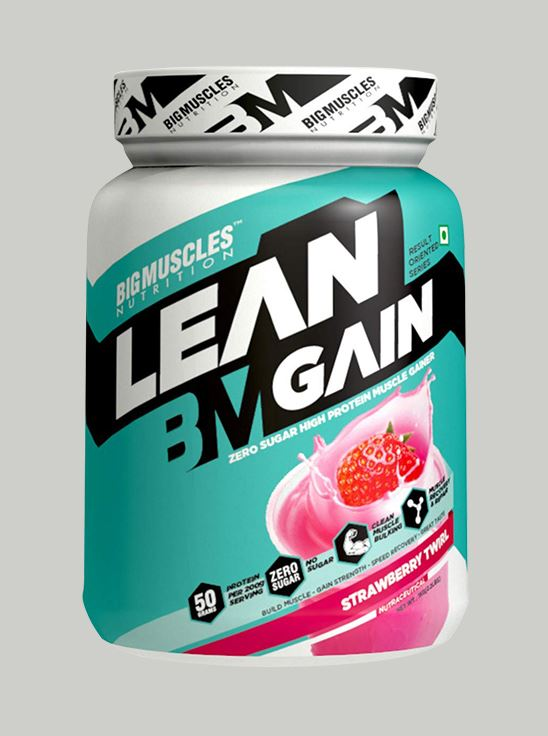 Picture of Bigmuscles Nutrition Lean Gain Strawberry 2.2 lbs