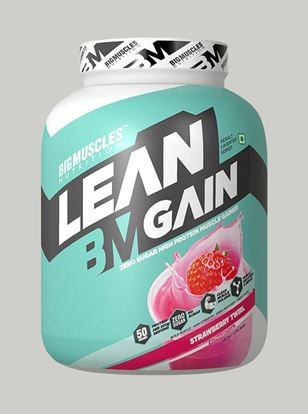 Picture of Bigmuscles Nutrition Lean Gain Strawberry 6 lbs