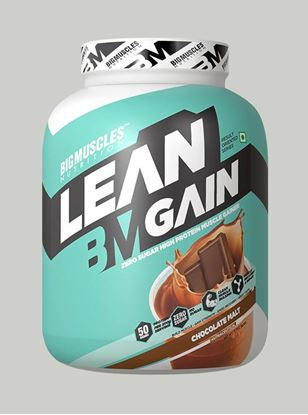 Picture of Bigmuscles Nutrition Lean Gain Malt Chocolate 6 lbs