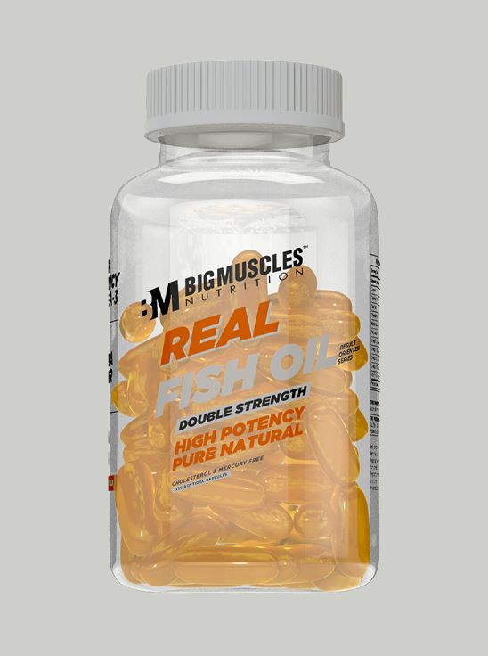Picture of Bigmuscles Nutrition Real Fish Oil Double Strength 120 Capsules