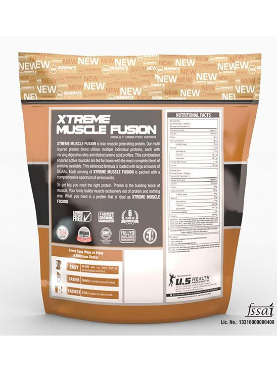 Picture of Bigmuscles Nutrition Xtreme Muscle Fusion Malt Chocolate 11 lbs