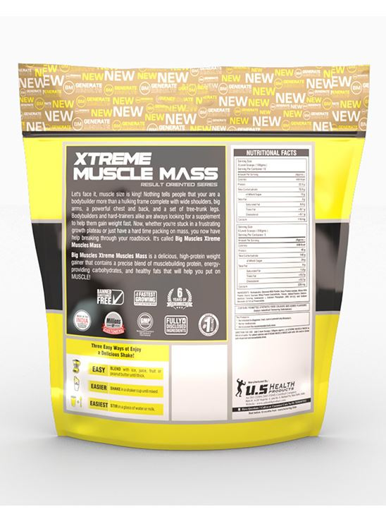 Picture of Bigmuscles Nutrition Xtreme Muscle Mass Cookie & Cream 11 lbs