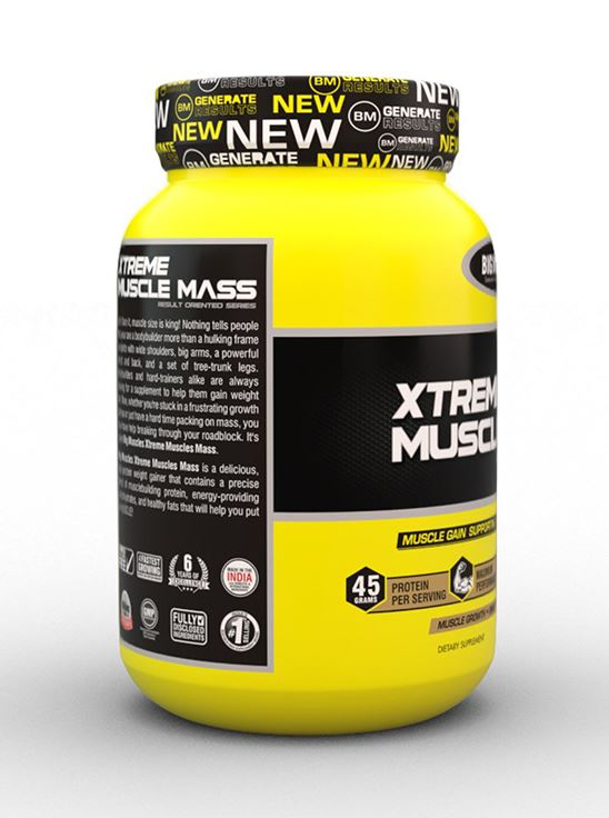 Picture of Bigmuscles Nutrition Xtreme Muscle Mass Malt Chocolate 2.2 lbs