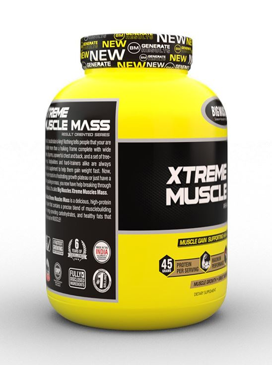 Picture of Bigmuscles Nutrition Xtreme Muscle Mass Malt Chocolate 6 lbs