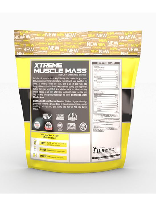 Picture of Bigmuscles Nutrition Xtreme Muscle Mass Malt Chocolate 11 lbs