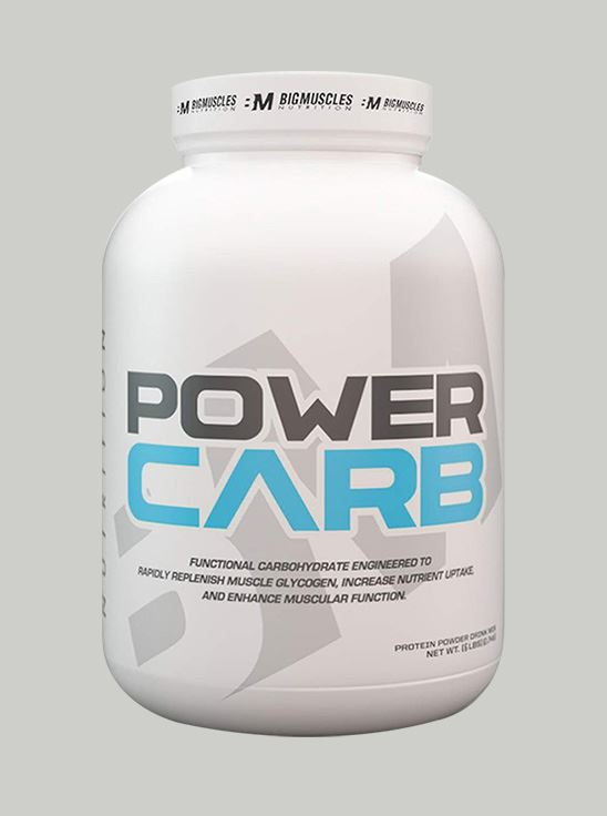 Picture of Bigmuscles Nutrition Power Carb Strawberry 6 lbs