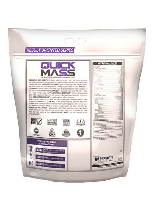Picture of Bigmuscles Nutrition Quick Mass Strawberry 11 lbs