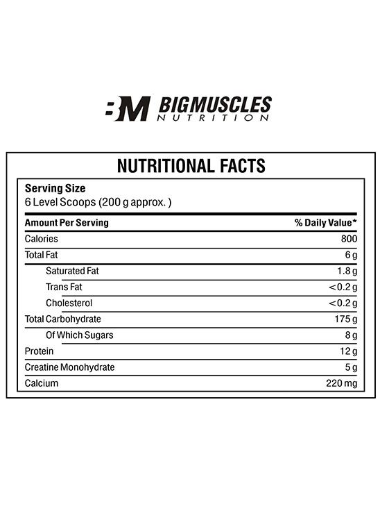 Picture of Bigmuscles Nutrition Quick Mass Malt Chocolate 2.2 lbs