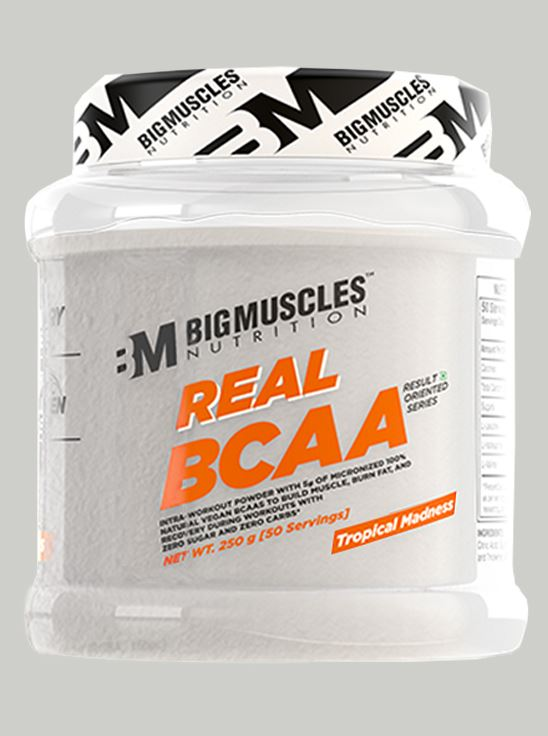Picture of Bigmuscles Nutrition Real BCAA Tropical Madness 50 Serving 250 gm