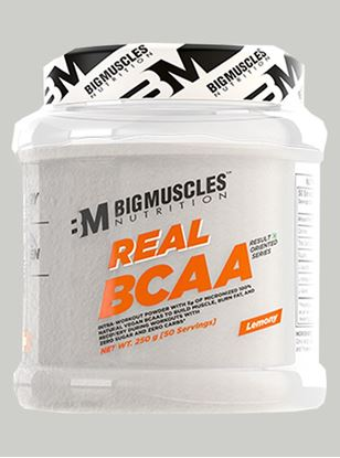 Picture of Bigmuscles Nutrition Real BCAA Lemony 50 Serving 250 gm