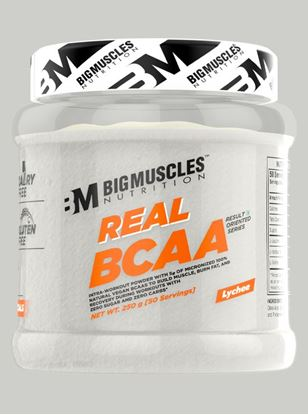 Picture of Bigmuscles Nutrition Real BCAA Lychee 50 Serving 250 gm