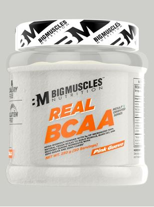 Picture of Bigmuscles Nutrition Real BCAA Pink Gauva 50 Serving 250 gm