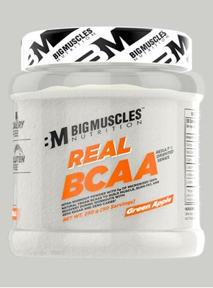 Picture of Bigmuscles Nutrition Real BCAA Green Apple 50 Serving 250 gm
