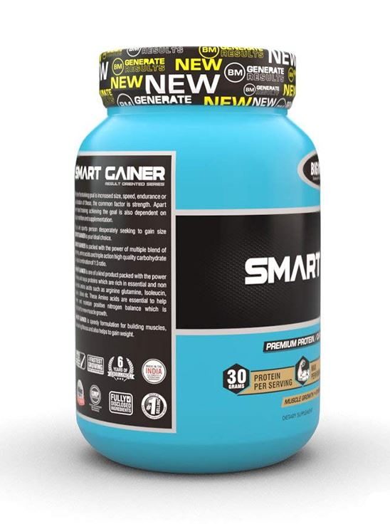Picture of Bigmuscles Nutrition Smart Gainer Cookie & Cream 2.2 lbs