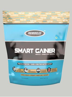 Picture of Bigmuscles Nutrition Smart Gainer Strawberry 11 lbs