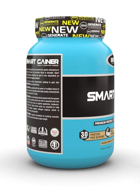 Picture of Bigmuscles Nutrition Smart Gainer Malt Chocolate 2.2 lbs