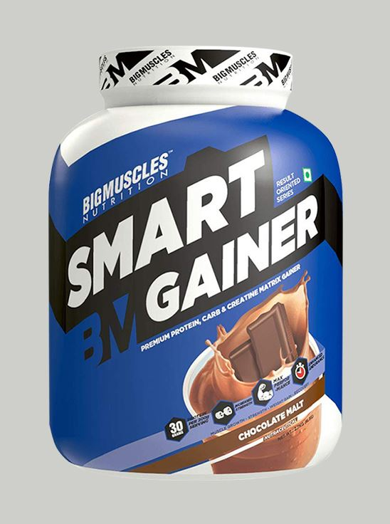 Picture of Bigmuscles Nutrition Smart Gainer Malt Chocolate 6 lbs