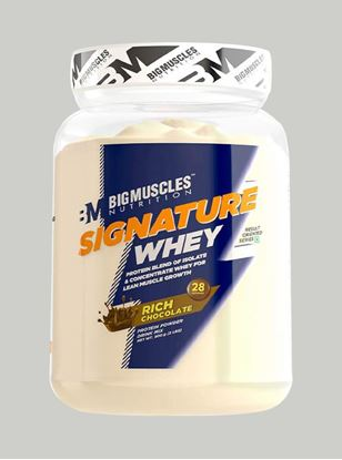 Picture of Bigmuscles Nutrition Signature Whey Protein Rich Chocolate 2 lbs