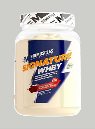 Picture of Bigmuscles Nutrition Signature Whey Protein Strawberry Banana Twirl 2lbs
