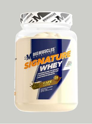 Picture of Bigmuscles Nutrition Signature Whey Protein Caffe Latte 2lbs
