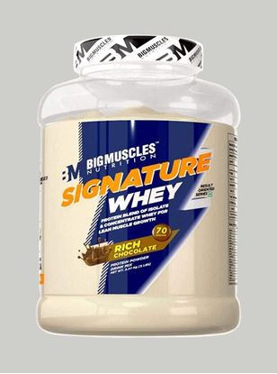 Picture of Bigmuscles Nutrition Signature Whey Protein Rich Chocolate 5lbs