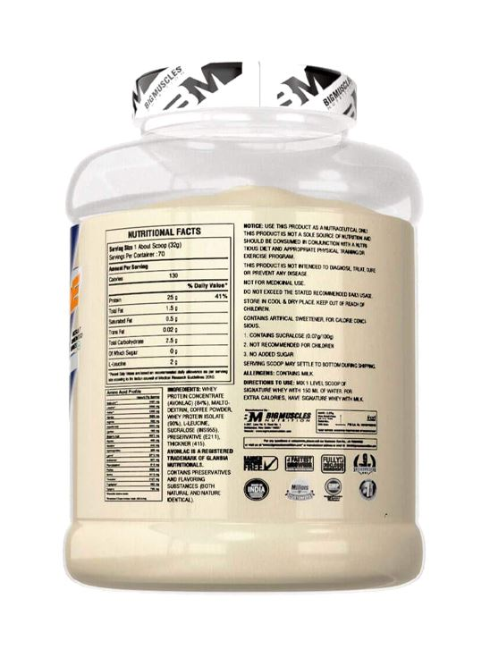Picture of Bigmuscles Nutrition Signature Whey Caffe Latte5 lbs