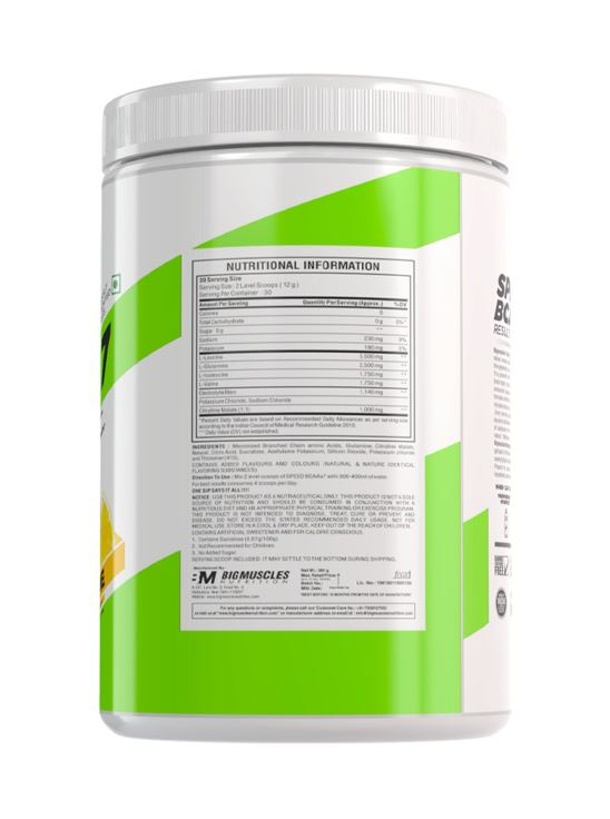 Picture of BIGMUSCLES NUTRITION SPEED BCAAX7 Lemon Lime 30 servings 360 gm
