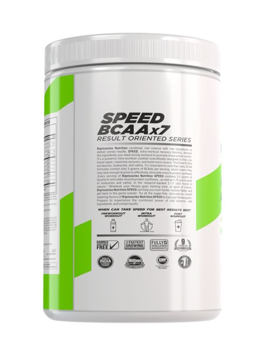 Picture of BIGMUSCLES NUTRITION SPEED BCAAX7 Mango Candy 30 servings 360 gm