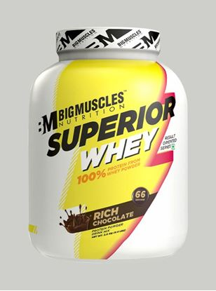 Picture of Bigmuscles Nutrition Superior Whey Protein Rich Chocolate 4.4 lbs