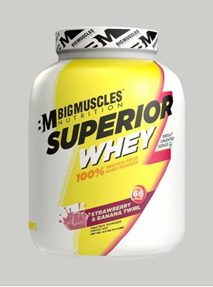 Picture of Bigmuscles Nutrition Superior Whey Protein Strawberry & Banana Twirl4.4 lbs