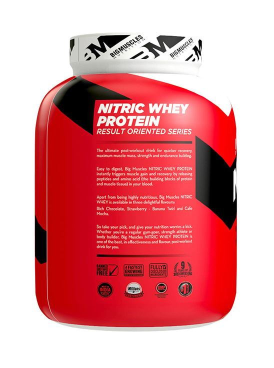 Picture of Bigmuscles Nutrition Nitric Whey Protein Strawberry Banana Twirl 4.4 lbs