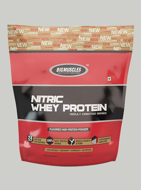 Picture of Bigmuscles Nutrition Nitric Whey Protein Strawberry Banana Twirl 10 lbs
